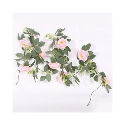 造花 バラ藤 人工観葉植物 2M フェイクグリーン ツバキ リアル 人工花輪 オフィス ベランダ ガーデン 吊り インテリア お祝い 結婚式 花藤