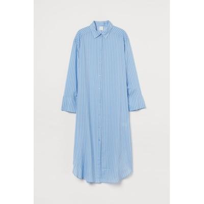 H&M - オーバーサイズシャツドレス - ブルー