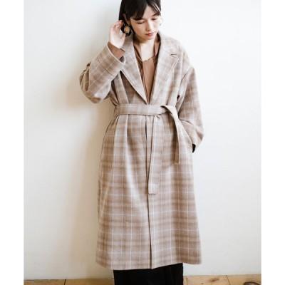 【ハコ】パッと羽織るだけで様になる!カジュアルにも大人っぽくも着られる便利なチェックコート