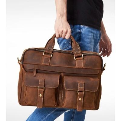 本革 牛革  メンズ ビジネスバック ショルダーバッグ 2way ハンドバッグ トートバッグ 手提げ 斜め掛け 通勤 カバン 多機能 多収納