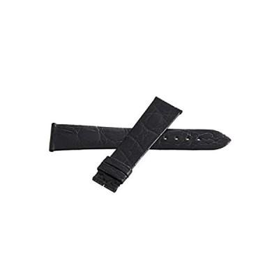 Longines 本革腕時計バンド 20mm x 16mm ブラック