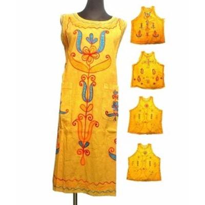刺繍エスニックワンピースAラインエスニック衣料エスニックアジアンファッション