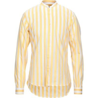 ニール カッター NEILL KATTER メンズ シャツ トップス Striped Shirt Yellow