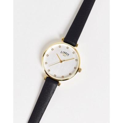 リミット Limit レディース 腕時計 Round Faux Leather Watch In Black ブラック