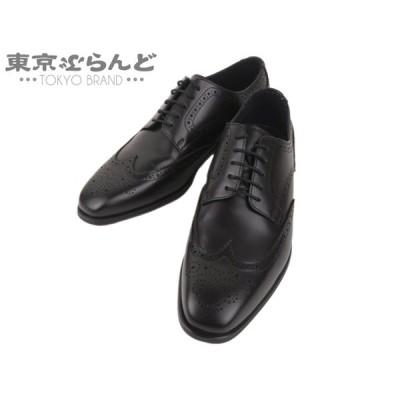 リーガル REGAL ワースコレクション ビジネスシューズ ウィングチップ レザー 黒 ブラック #24.5 美品 メンズ シューズ 靴   241001000727