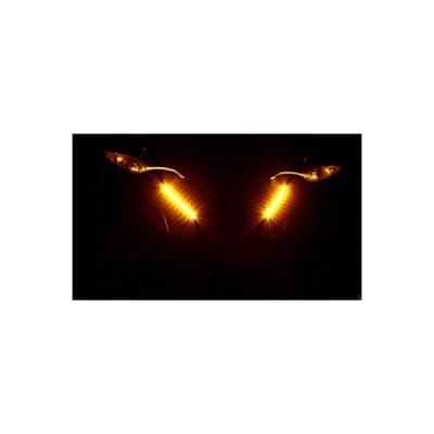 LED 39?43ミリメートルオートバイフォーク/クリアパニガーレ信号w /ランニングライトキットを回し LED 39-43mm Motorcycle