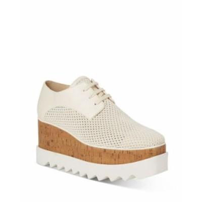 ステラマッカートニー レディース スニーカー シューズ Women's Elyse Woven Mesh Platform Sneakers Ivory