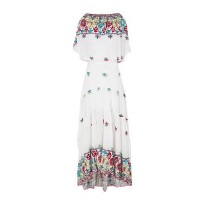 BLACK CORAL ロングワンピース&ドレス ホワイト 38 レーヨン 100% ロングワンピース&ドレス