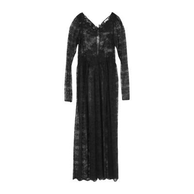 パコ ラバンヌ PACO RABANNE ロングワンピース&ドレス ブラック 34 ナイロン 60% / レーヨン 40% / ポリエステル ロング