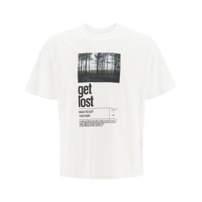 NEIL BARRETT/ニール バレット White Neil barrett get lost print t-shirt メンズ 秋冬2020 PBJT823S P544S ik