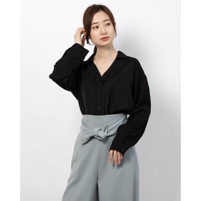 リネーム Rename バッククロスタックスキッパーシャツ (ブラック)