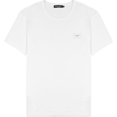 ドルチェ&ガッバーナ Dolce & Gabbana メンズ Tシャツ トップス White logo cotton T-shirt White