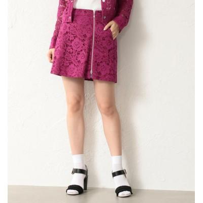 【ラブレス/LOVELESS】 【LOVELESS】WOMEN バイアスジップカラーレースカート