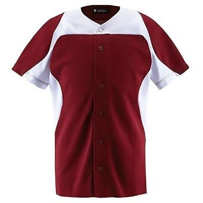 デサント ユニフォーム シャツ フルオープンシャツ エンジ×Sホワイト DB-1014-ENSW <2020CON>
