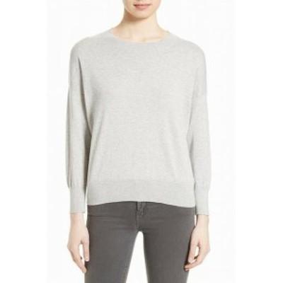 Equipment イクイップメント ファッション トップス Equipment Womens Sweater Heather Gray Size XS Crewneck Drop Shoulder