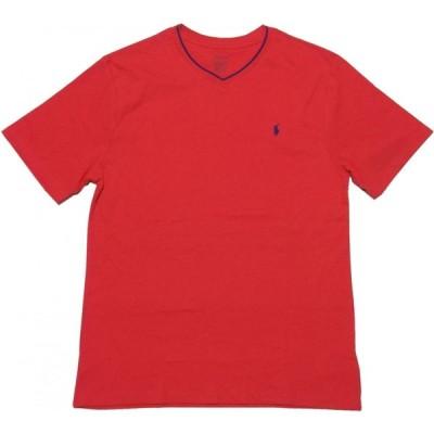 ポロ ラルフローレン ボーイズサイズ 半袖 Vネック ワンポイント Tシャツ レッド Polo Ralph Lauren boys 178