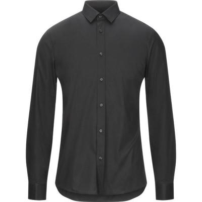 ヒューゴ ボス HUGO HUGO BOSS メンズ シャツ トップス solid color shirt Black