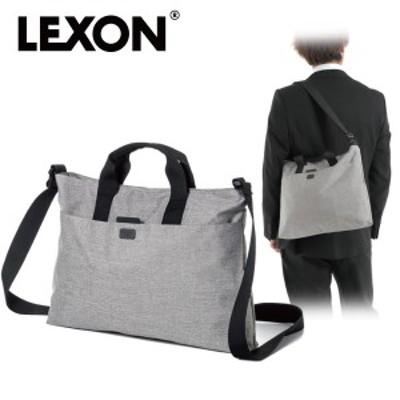 LEXON レクソン ショルダーバッグ トートバッグ ワンドキュメントバッグ LN1414 ライトグレー  メンズファッション