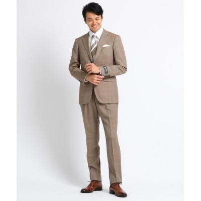 TAKEO KIKUCHI/タケオキクチ グレンチェックスーツ Fabric by DORMEUIL タバコブラウン(254) 02(M)