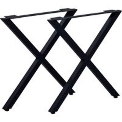 エイ・アイ・エスエイ・アイ・エス テーブルキッツ用 テーブル脚 X型 幅630×奥行85×高さ670mm ブラック TBK-X BK 1セット(直送品)