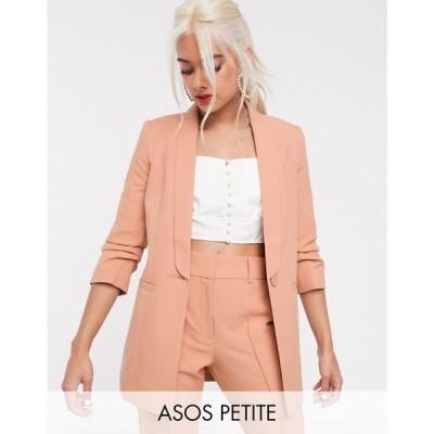 エイソス ASOS Petite レディース スーツ・ジャケット アウター asos design petite mix & match tailored suit blazer ベビーピンク