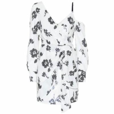 セルフ ポートレイト Self-Portrait レディース ワンピース ワンピース・ドレス Sequined cold-shoulder minidress Ivory Navy
