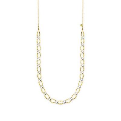 K18イエローゴールドアコヤ真珠ネックレス