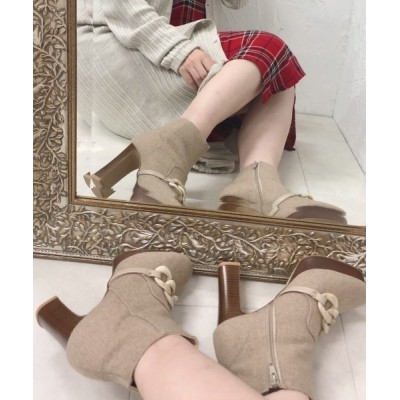 ESPERANZA / キルトタンチェーンブーツ WOMEN シューズ > ブーツ