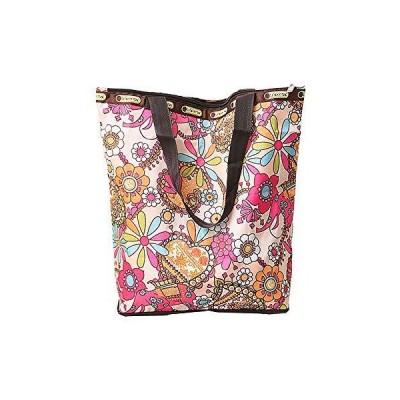 エコバッグ 折りたたみ 花柄プリント キャンバストートバッグ ショッピングバッグ 大容量 再利用 キャンバス