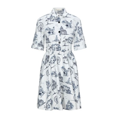 MAJE ミニワンピース&ドレス ホワイト 1 コットン 97% / ポリウレタン 3% ミニワンピース&ドレス