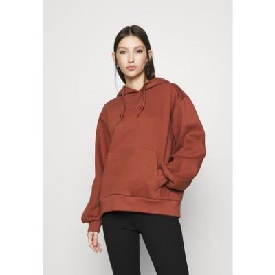 アディダス レディース ファッション HOODIE - Sweatshirt - brown