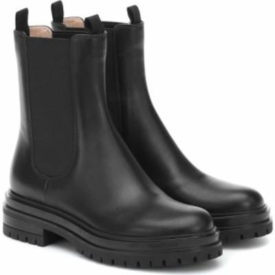 ジャンヴィト ロッシ Gianvito Rossi レディース ブーツ ショートブーツ シューズ・靴 leather ankle boots Black