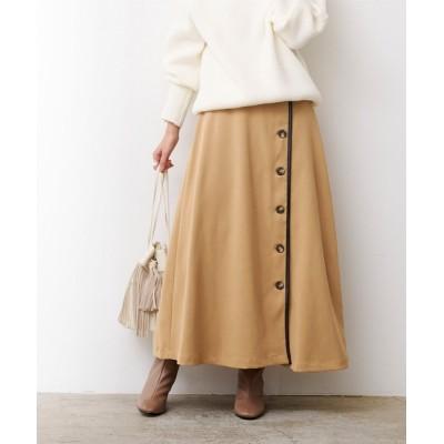 ur's / フェイクスエードレザーパイピングスカート WOMEN スカート > スカート