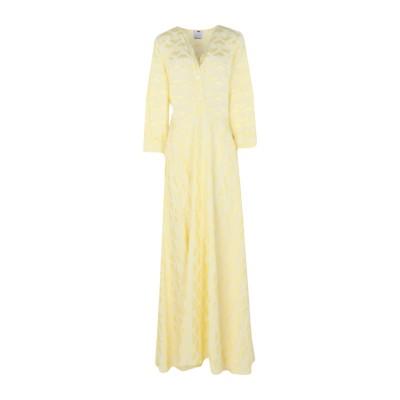 ULTRA'CHIC ロングワンピース&ドレス イエロー 40 レーヨン 100% ロングワンピース&ドレス
