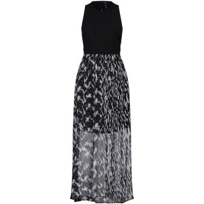 マニラ グレース MANILA GRACE ロングワンピース&ドレス ブラック 48 ポリエステル 100% / ポリウレタン ロングワンピース&ド