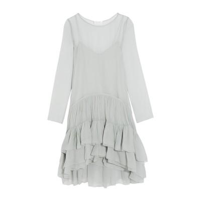 クロエ CHLOÉ ミニワンピース&ドレス ライトグレー 34 100% シルク ミニワンピース&ドレス