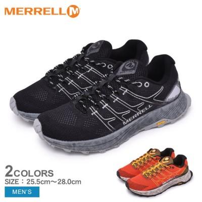 メレル スニーカー メンズ モアブ フライト MERRELL ブラック 黒 オレンジ ハイキングシューズ トレイルランニング シューズ 靴