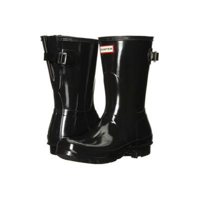 ハンター Hunter レディース レインシューズ・長靴 シューズ・靴 Original Back Adjustable Short Gloss Rain Boots Black