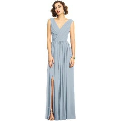 ディシーコレクション Dessy Collection レディース パーティードレス ワンピース・ドレス Shirred Chiffon Gown Mist Blue