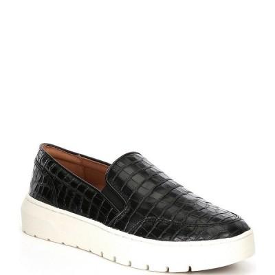 バイオニック レディース スニーカー シューズ Dinoracroc Croc Embossed Leather Slip-On Sneakers Black