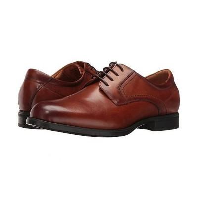 Florsheim フローシャイム メンズ 男性用 シューズ 靴 オックスフォード 紳士靴 通勤靴 Midtown Plain Toe Oxford - Cognac Smooth