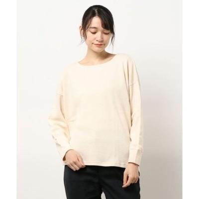 tシャツ Tシャツ 【リサイクルコットン】ワッフルゆるプルオーバー