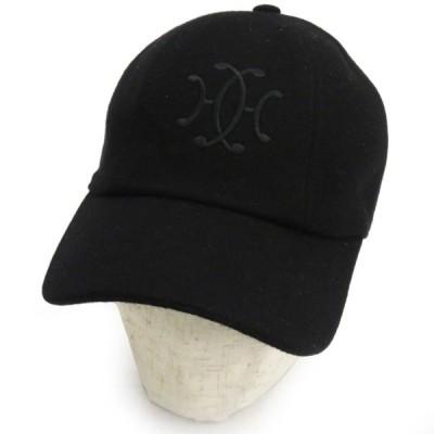 エルメス H ロゴ 刺繍 カシミヤ キャップ ベースボールキャップ セリエ ボタン ユニセックス メンズ レディース 【アパレル】
