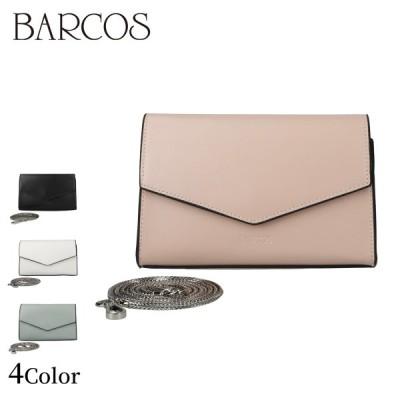 BARCOS 2WAYレザーミニポシェット レディース 全4色 ONESIZE バルコス