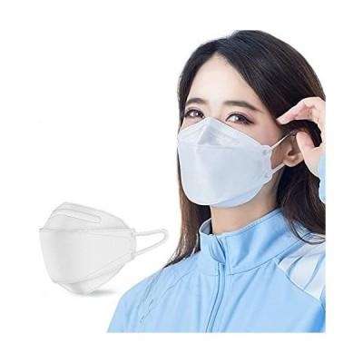 KF94 マスク 15枚入 個別包装 立体4層構造 ホワイト 不織布マスク おしゃれ 防塵 花粉症 通気