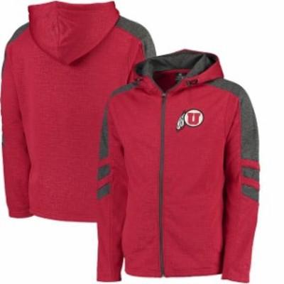 Colosseum コロセウム スポーツ用品  Colosseum Utah Utes Red/Charcoal Top Gun Full-Zip Hoodie