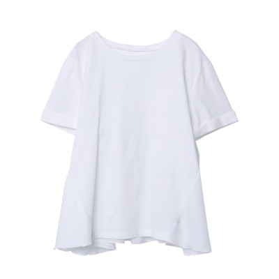 (Rejoule/リジュール)【2021新作商品 】異素材コンビフレアTシャツ/レディース オフホワイト