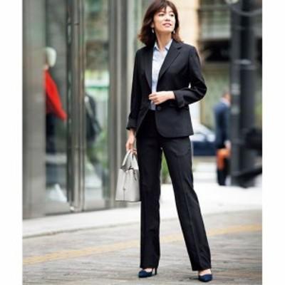 シルエットが選べるパンツスーツ(ブーツカットパンツ・ストレートパンツ・洗濯機OK) 15ABR80 17ABR84|1753-180052