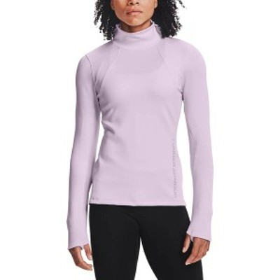 アンダーアーマー レディース シャツ トップス Under Armour Women's ColdGear Armour Form Funnel Long Sleeve Shirt Crystal Lilac