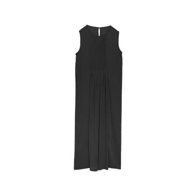 リエディ Re:EDIT [お家で洗える][低身長向けSサイズ対応]フロントプリーツレイヤードワンピース (ブラック)